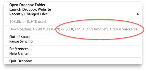 Quick post – Good to see the staff at Dropbox have a sense of humour