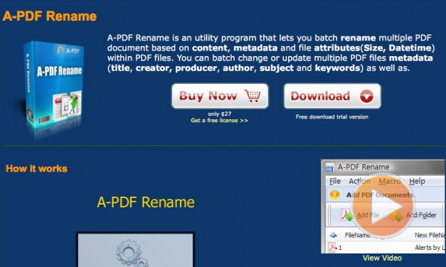 Handy little tool to rename PDF files based on content (A-PDF Rename)